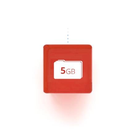 5GB de almacenamiento gratuito