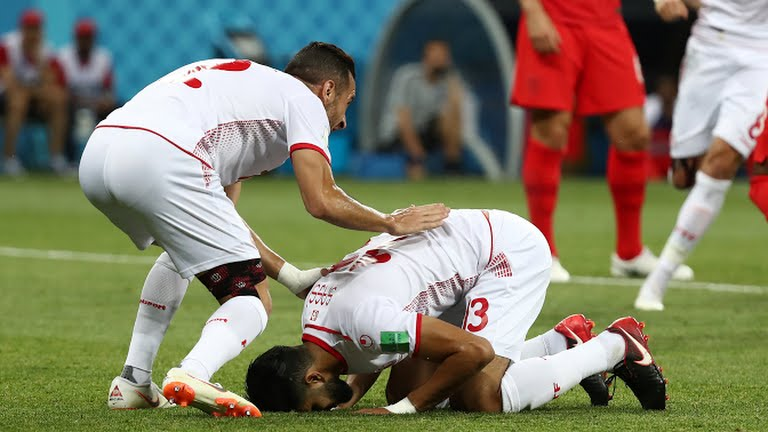 تونس أول منتخب عربي وافريقي يسجل هدفا في مونديال روسيا 2018