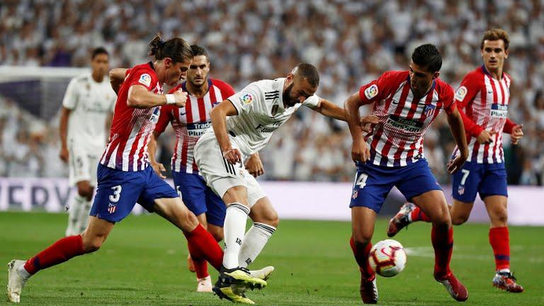 Karim Benzema sufrió ante la defensa colchonera