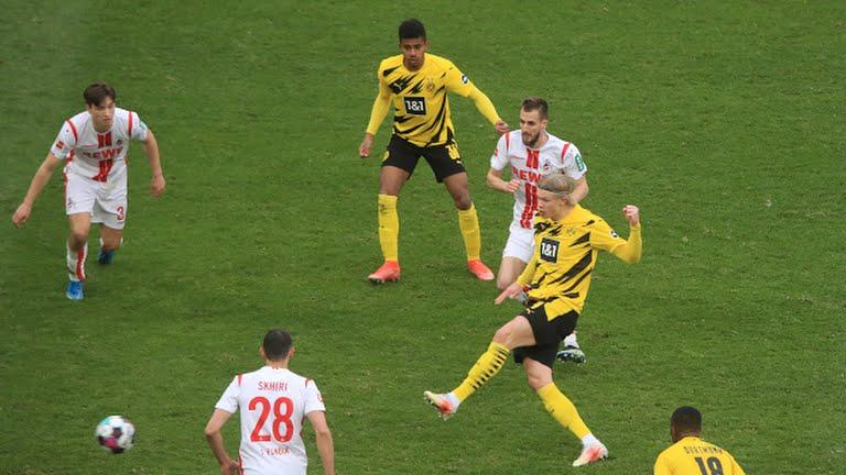 هالاند ينقذ بروسيا دورتموند من الهزيمه امام كولن.
